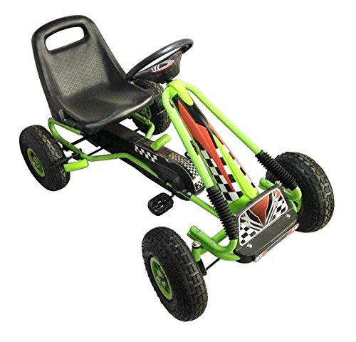 Racing Pedal Go-Kart w/ Pneumatic Tire - Green