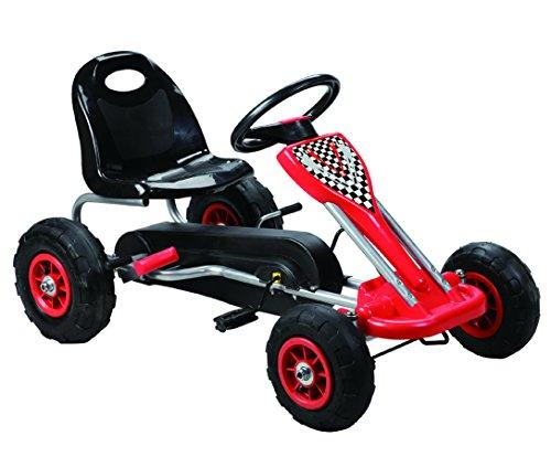 Speedy Pedal Go-Kart w/ Pneumatic Tire - Red