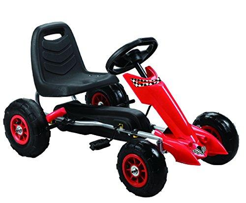 Zoom Pedal Go-Kart w/ Pneumatic Tire - Red