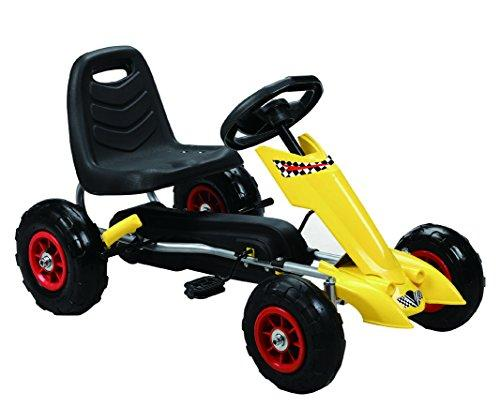Zoom Pedal Go-Kart w/ Pneumatic Tire - Yellow
