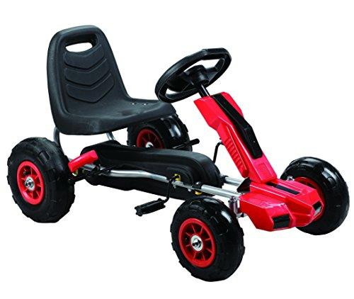 Power Pedal Go-Kart w/ Pneumatic Tire - Red