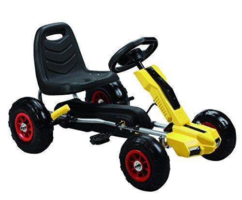 Power Pedal Go-Kart w/ Pneumatic Tire - Yellow