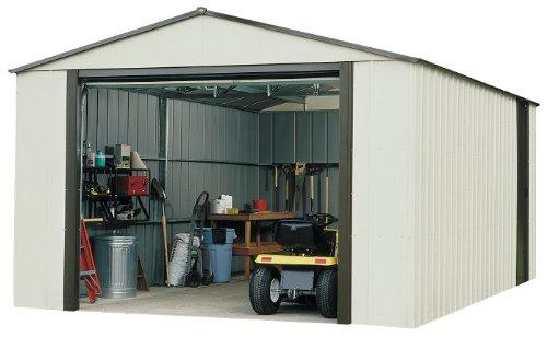 Arrow Sheds Murrayhill, 14x31, Vinyl Coated Steel, Coffee / Almond, High Gable, 73.8