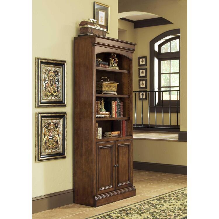 Villa Tuscano Open Bookcase with Doors