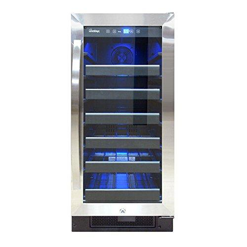 30-Bottle Wine Cooler (Black and Stainless) CEC
