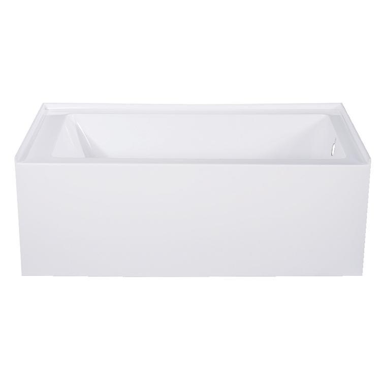 Aqua Eden 54-Inch Acrylic Alcove Tub with Right Hand Drain, White