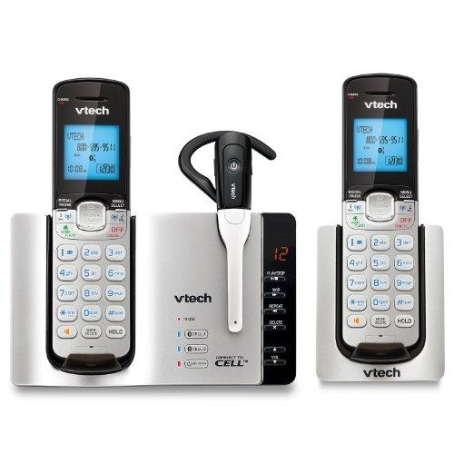 VTECH DS6671-3 DECT 6.0 Connect-to-Cell(TM) 2-Handset Phone System & Cordless Headset (2 Handset)