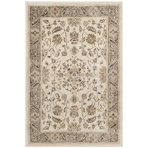 Traditional Rug - Vintage Viscose Pile -Stone/Mouse