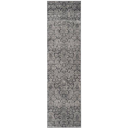 Transitional Rug - Vintage Polypropylene Pile -Dark Grey/Light Grey Style-A