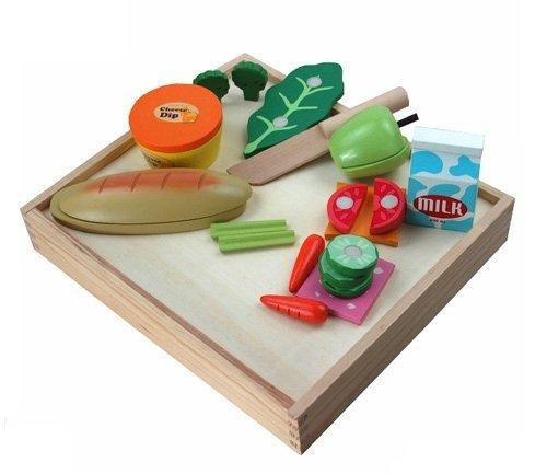 Casual Wooden 17 Piece Play Food Set