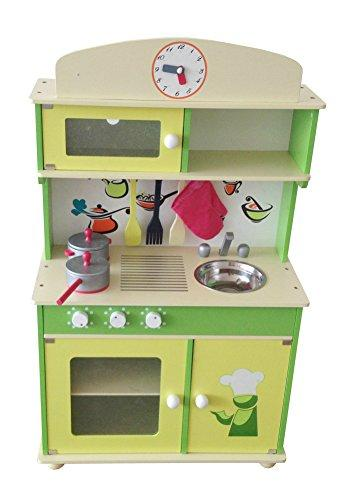 My Cute Green Wooden Play Kitchen