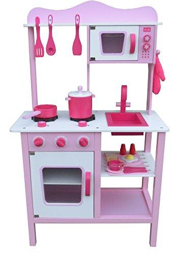 My Cute Pink Wooden Play Kitchen