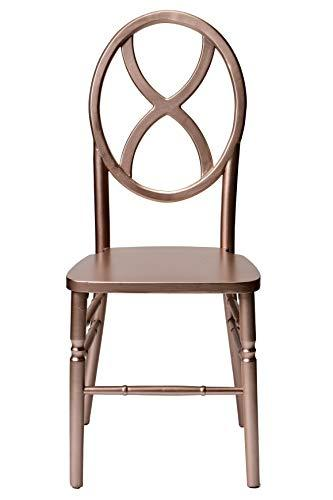 Commercial Seating Products Veronique Series Stackable Sand Glass Wood Dining Chair - Rose Gold