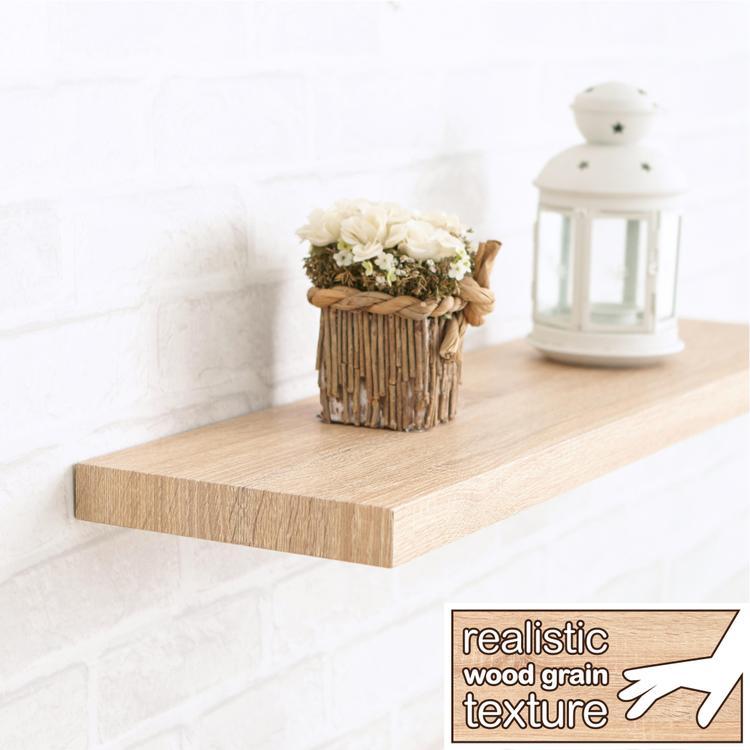 Way Basics Eco Antigua Soft Grain Floating Wall Shelf