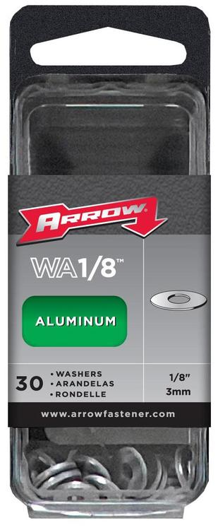 Arrow Fastener Wa1/8 Alum Washer1/8 30/Bx