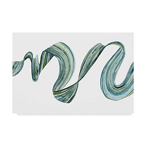 Grace Popp 'Ribbon Stream I' Canvas Art