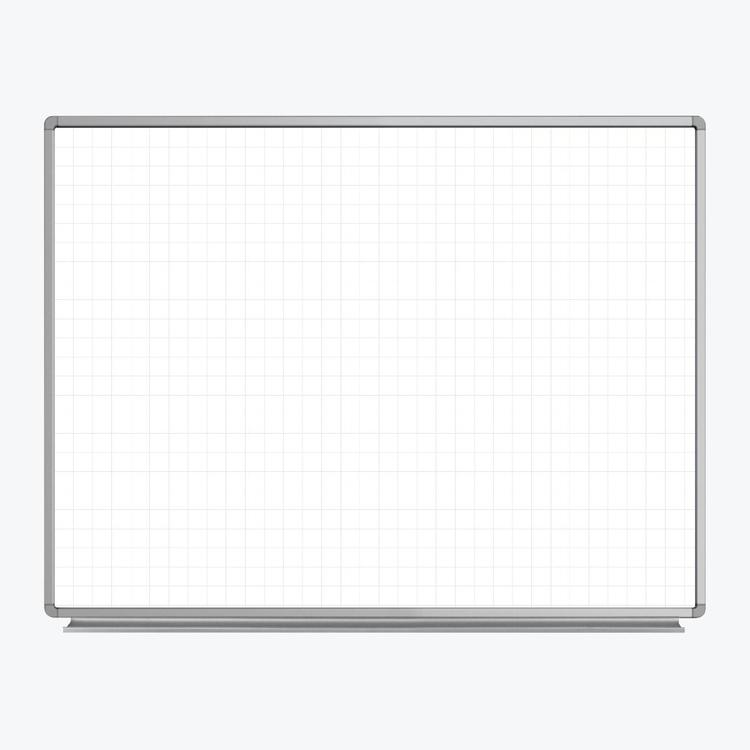 Luxor 48? x 36? Wall-Mounted Magnetic Ghost Grid Whiteboard