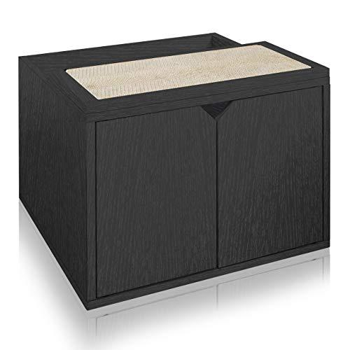 Way Basics Eco Friendly Cat Litter Box Enclosure, Black