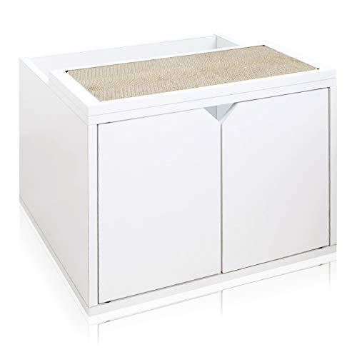 Way Basics Eco Friendly Cat Litter Box Enclosure, White