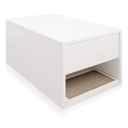 Way Basics Eco Friendly Cat Litter Sidetable, White