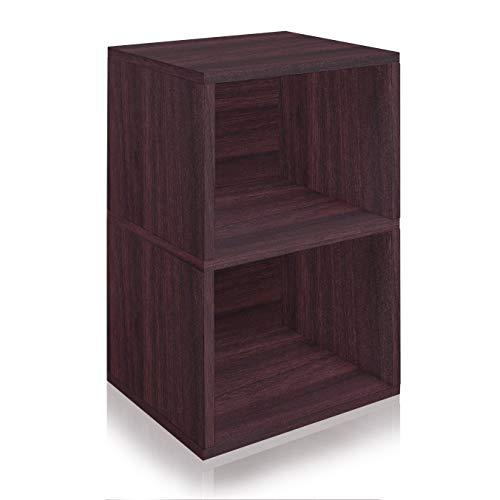 Way Basics Eco Friendly Under Desk Shelf Bookcase, Espresso - [WB-UDSHELF-EO]