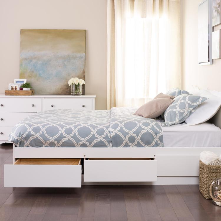 Mate's Platform Storage Bed With 6 Drawers