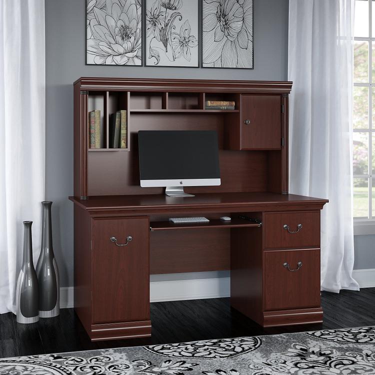 Bush Furniture Birmingham Office Desk With Hutch