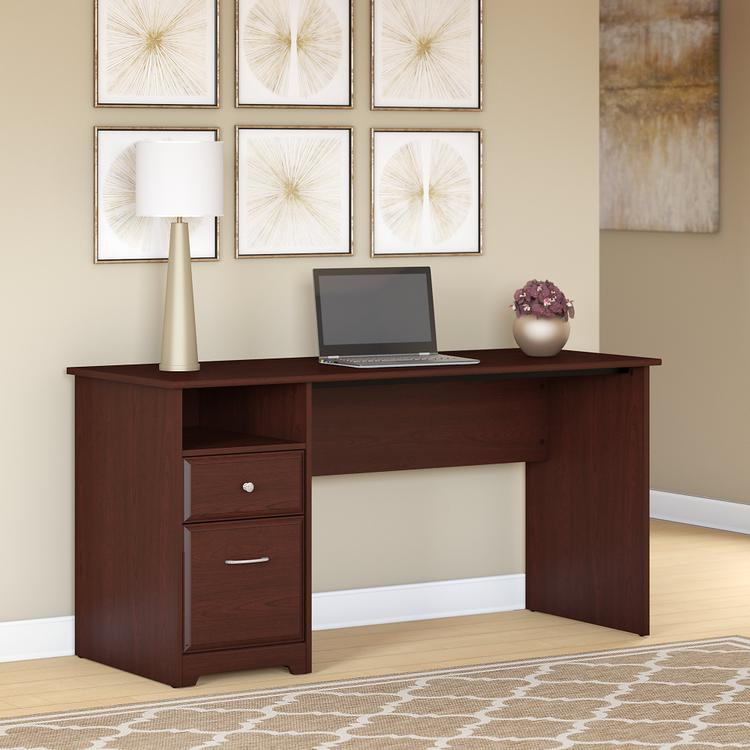 Bush Furniture Cabot 60W Computer Desk with Drawers