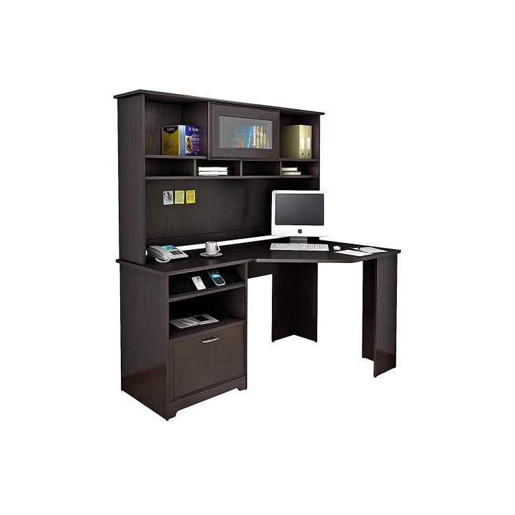 Bush Furniture Cabot Corner Desk with Hutch [Item # WC31815-WC31831]