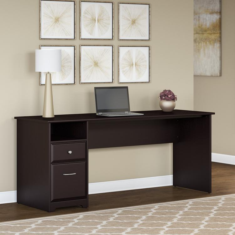 Bush Furniture Cabot 72W Computer Desk with Drawers