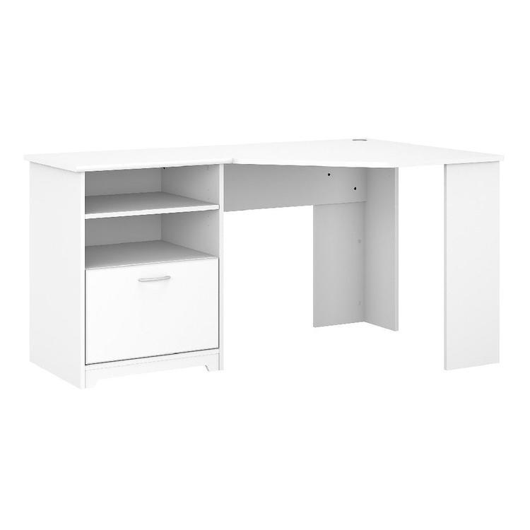 Bush Furniture Cabot 60W Corner Desk in White