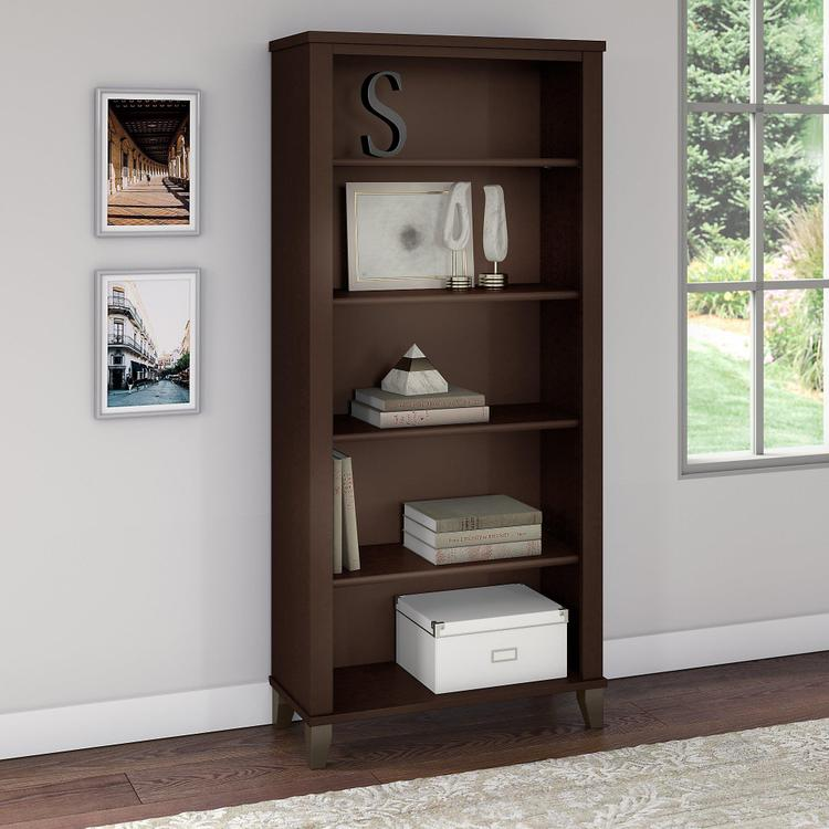 Bush Furniture Somerset 5 Shelf Bookcase