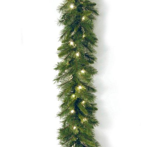 National Tree Winchester Pine Garland with Clear Lights