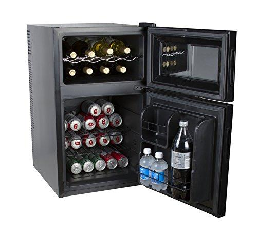 Kalorik Black 2-In-1 Mini-Fridge And Wine Cooler