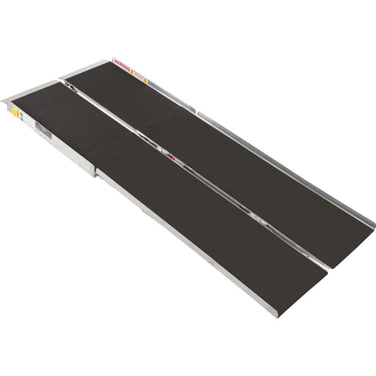 Prairie View 8-ft x 30-in Portable Multifold Wheelchair Ramp 800 lb. Weight Capacity, Maximum 16-in Rise