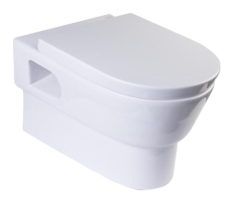 EAGO WD332 Round Modern Wall Mount Dual Flush Toilet