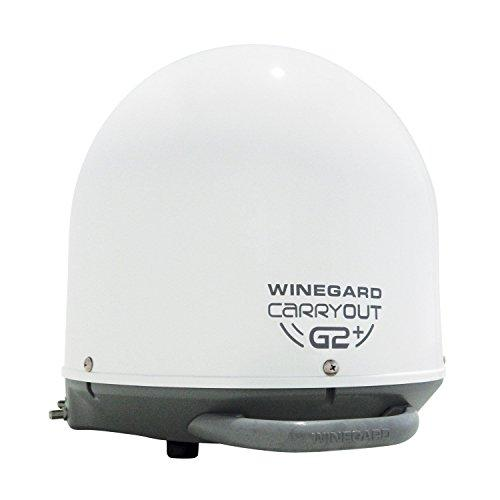 WINEGARD GM-6000 Carryout(R) G2 Automatic Portable Satellite TV Antenna with Power Inserter (White)