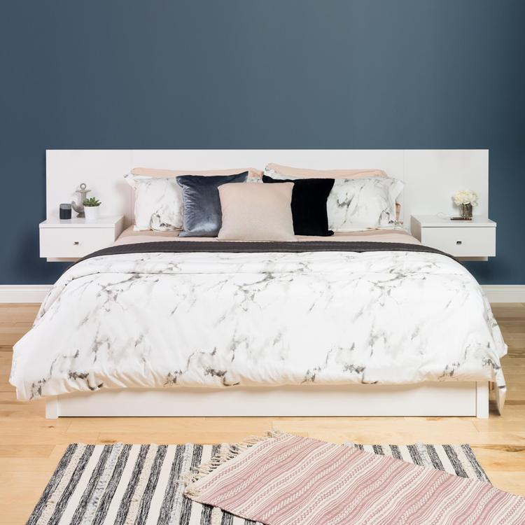Floating Headboard With Nightstands