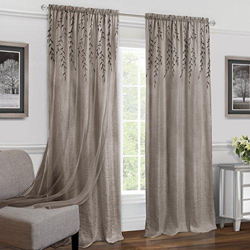 Willow Rod Pocket Window Curtain Panel - 42x63 - Toffee