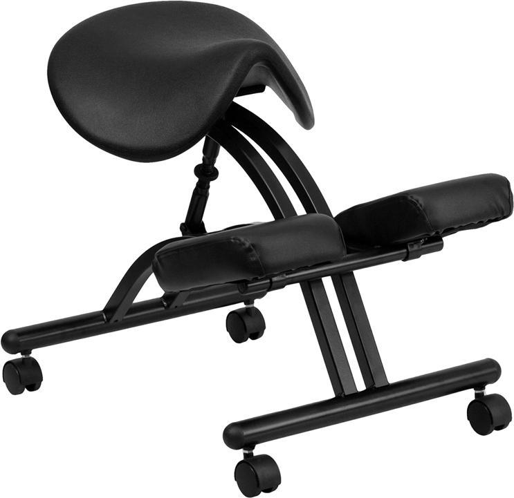 Ergonomic Kneeling Chair With Saddle Seat