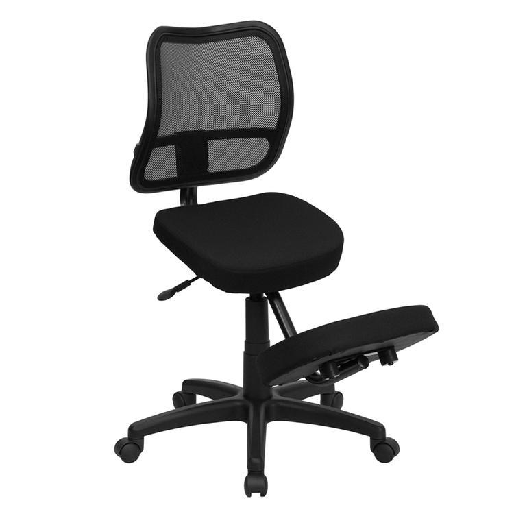 Flash Furniture Mobile Ergonomic Kneeling Swivel Task Chair With Mesh Back