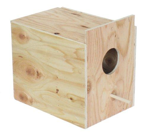 YML WNB1 Wooden Nest Box for Outside Mount with Dowel