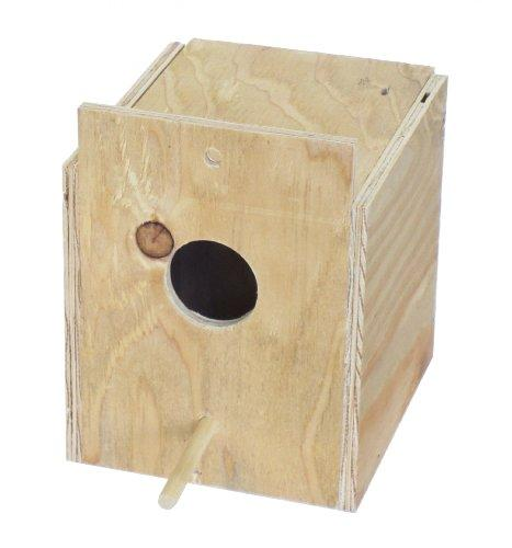 YML WNB3 Wooden Nest Box for Outside Mount with Dowel