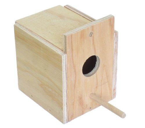YML WNB4 Wooden Nest Box for Outside Mount with Dowel