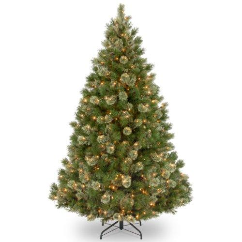 National Tree Wispy Willow Grande Medium Tree with Clear Lights
