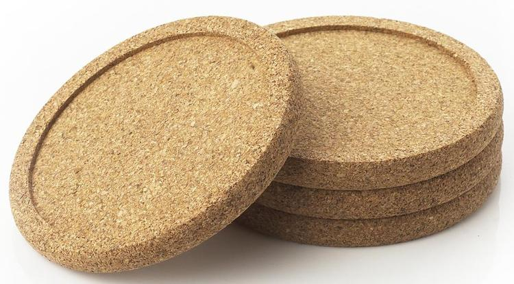 Wp17 Cork Coasters 4Pk