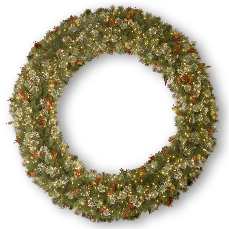 National Tree Wintry Pine(R) Wreath with Clear Lights [Item # WP1-300-72W]