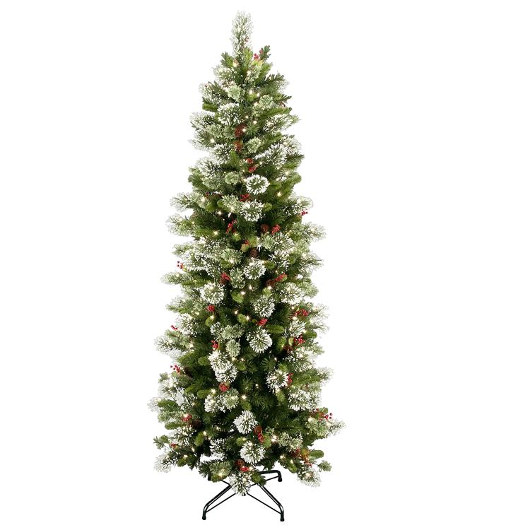 National Tree Wintry Pine(R) Slim Tree with Clear Lights