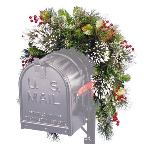 National Tree Wintry Pine Mailbox Swag