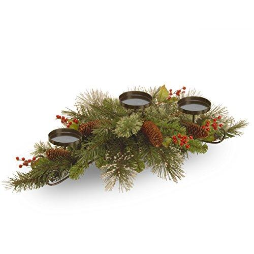 Wintry Pine Centerpiece and Candle Holder